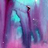 Bright painted watercolor texture Stock Image