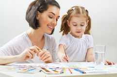 Bright paints Stock Photo