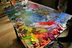 bright palette of the artist royalty free stock images