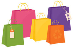 Bright Paper Bags Stock Photo