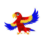 Bright parrot on white background stock illustration
