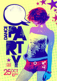 Bright party design, pop-art style. Royalty Free Stock Photo