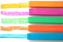 Bright Pastel Crayons Royalty Free Stock Photos