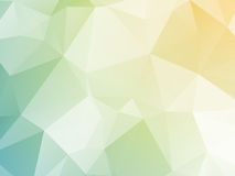 Bright pastel yellow blue green triangular background Royalty Free Stock Image