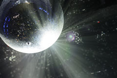 Bright patches of light on disco ball. tinted Stock Images