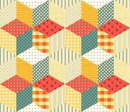 Bright patchwork pattern. Stock Photo