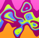 Bright pattern. Mischief of the paints, fabulous pattern Stock Image