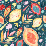 Bright pattern of autumn leaves Stock Image