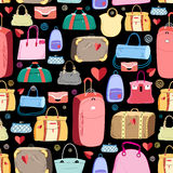 Bright pattern of bags Stock Images