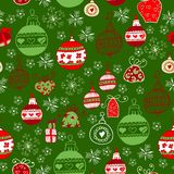 Bright pattern with Christmas toys Royalty Free Stock Photos