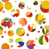Bright pattern of circles and dots Stock Images