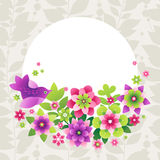 Bright pattern with colorful flowers. Royalty Free Stock Photography