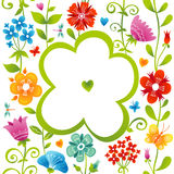 Bright pattern with colorful flowers. Stock Photography
