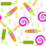 Bright pattern of colorful Popsicle Stock Images