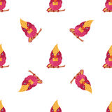 Bright pattern with cute birds. Can be used for wallpaper, scrapbooking, textile. Bright pattern with cute birds. Can be used for wallpaper, textile Royalty Free Illustration