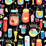 Bright pattern delicious cocktails Royalty Free Stock Photography