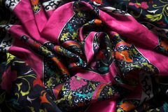 Bright pattern  fabric Royalty Free Stock Images