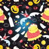 Bright pattern with for Halloween Royalty Free Stock Photography