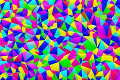Bright pattern of multi-colored triangles royalty free illustration