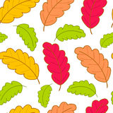 Bright pattern with oak leaves-01 Royalty Free Stock Images