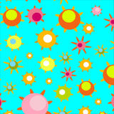 Bright pattern with spring flowers Stock Photography