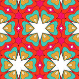 Bright pattern in style of the fifties red, orange and neon Royalty Free Stock Photos