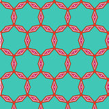 Bright pattern in style of the fifties red, orange and neon. Bright pattern in the style of the fifties, colorful kaleidoscope of red, orange and neon Royalty Free Stock Photo