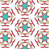 Bright pattern in style of the fifties red, orange and neon. Bright pattern in the style of the fifties, colorful kaleidoscope of red, orange and neon Stock Image