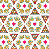 Bright pattern in style of the fifties red, orange and neon Stock Photography