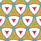 Bright pattern in style of the fifties red, orange and neon Stock Images