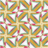 Bright pattern in style of the fifties red, orange and neon Stock Photos