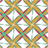 Bright pattern in style of the fifties red, orange and neon. Bright pattern in the style of the fifties, colorful kaleidoscope of red, orange and neon Royalty Free Stock Image