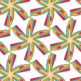 Bright pattern in style of the fifties red, orange and neon. Bright pattern in the style of the fifties, colorful kaleidoscope of red, orange and neon Royalty Free Stock Photos