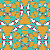 Bright pattern in style of the fifties red, orange and neon. Bright pattern in the style of the fifties, colorful kaleidoscope of red, orange and neon Stock Images