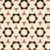 Bright pattern in style of the fifties red, orange and neon Stock Photo