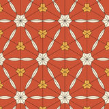 Bright pattern in style of the fifties red, orange and neon Stock Image