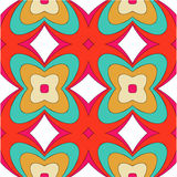 Bright pattern in style of the fifties red, orange and neon. Bright pattern in the style of the fifties, colorful kaleidoscope of red, orange and neon Stock Photo