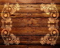 Bright patterns printed on a wooden Board. Stock Images