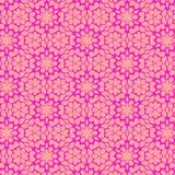 Bright peach and pink floral geometric pattern vector illustration