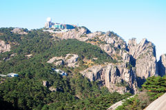 Bright Peak on Huangshan Stock Images