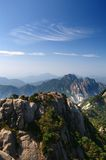 Bright peak view of huangshan mountain royalty free stock photos