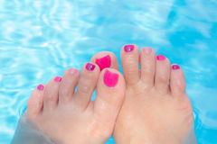 Bright pedicure Stock Images