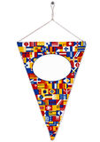 Bright pennant or triangle flag and screw set Stock Image