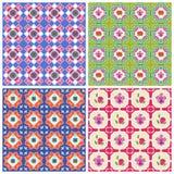 Bright Peranakan Patterns Royalty Free Stock Photos