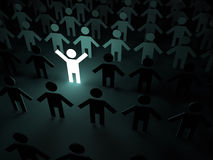 Bright person in the crowd Royalty Free Stock Images