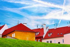 Bright photo of buildings of Czech Stock Photos