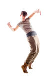 Bright photo of lively dancer Royalty Free Stock Photography