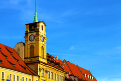 Bright photo of old building of Czech Stock Image
