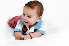 Bright picture of  baby boy Royalty Free Stock Photos