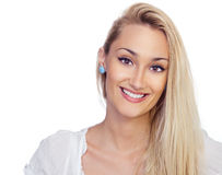 Bright picture of blond woman Stock Image